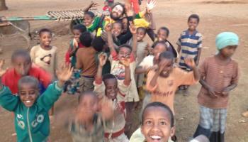 Niños africanos. Alegría. Etiopía