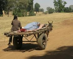 Camino al hospital