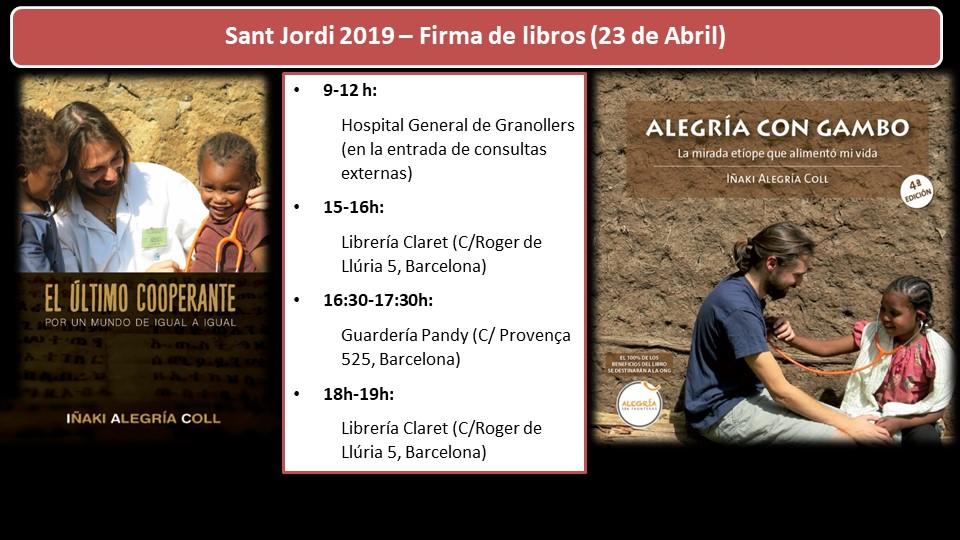 Si os apetece y podéis os espero para saludaros, charlar un rato y dedicaros el nuevo libro: Sant Jordi - Día del Libro