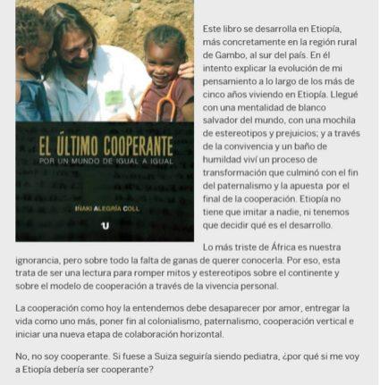 """El temporal Gloria no impide la presentación del libro """"El Último cooperante"""" en Barcelona africa alegria gambo alegria sin fronteras dr alegria"""