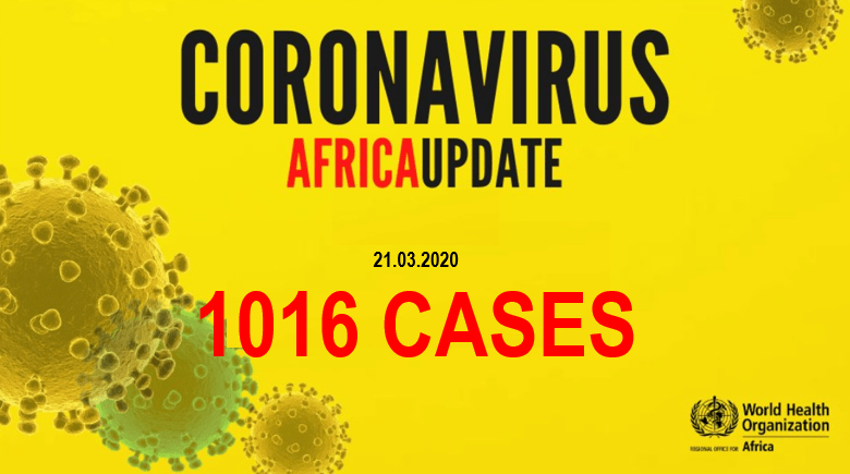 COVID19 in Africa: More than 1000 confirmed cases africa