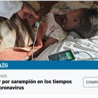 Morir por sarampión en los tiempos del coronavirus