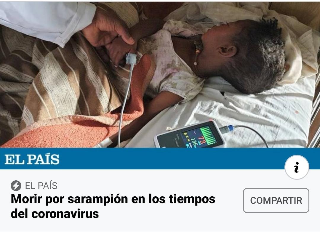 Morir por sarampión en los tiempos del coronavirus africa