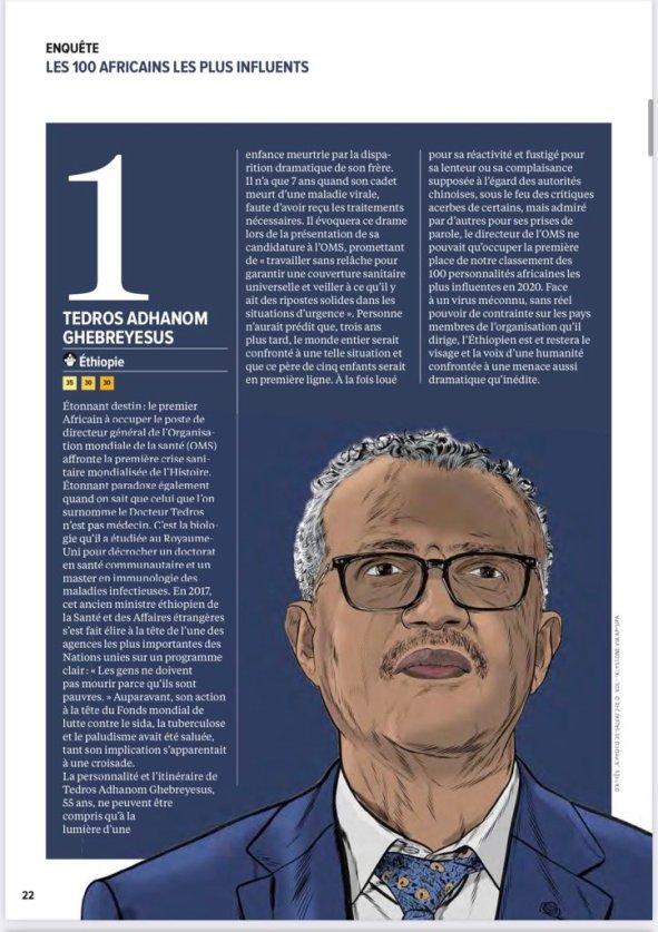 Les 100 africains les plus influents africa