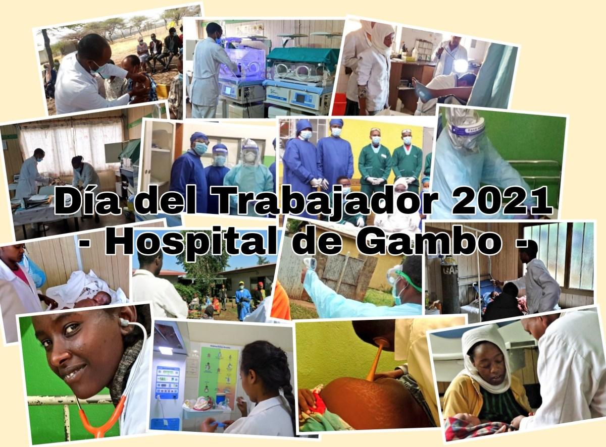 Homenaje al personal trabajador del Hospital de Gambo actualidad Vacuna Covid19