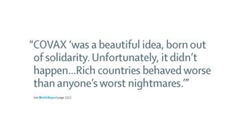 THE LANCET: COVAX, una bonita idea que debido al egoísmo de los países ricos a terminado siendo la peor pesadilla. actualidad Vacuna Covid19