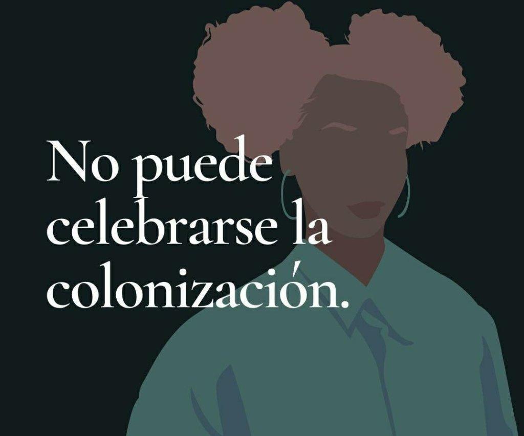 No se puede celebrar la colonización actualidad