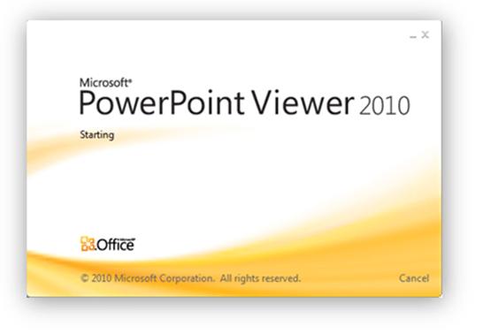 visualizador do powerpoint 2010