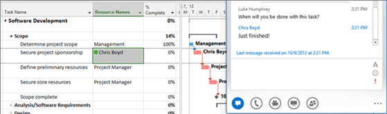 Integration Lync 2013 with Project 2013A