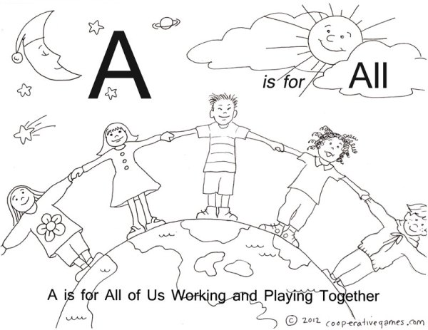 abc coloring page # 42