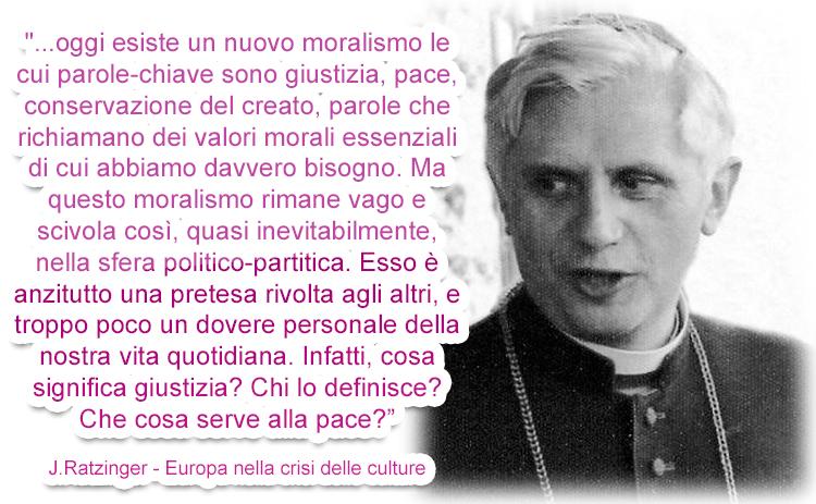 Quando Ratzinger spiegava la crisi europea offrendo soluzioni cattoliche