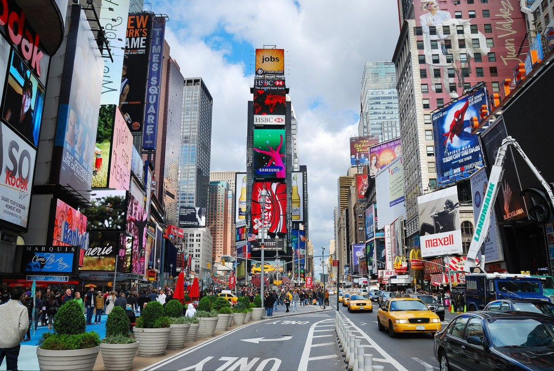 Times Square is featured with Broadway Theaters by Cooper DuBois Portland
