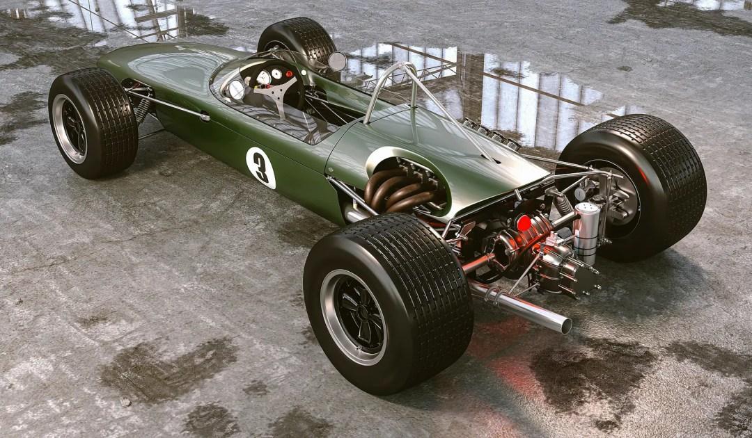 beautiful vintage race car