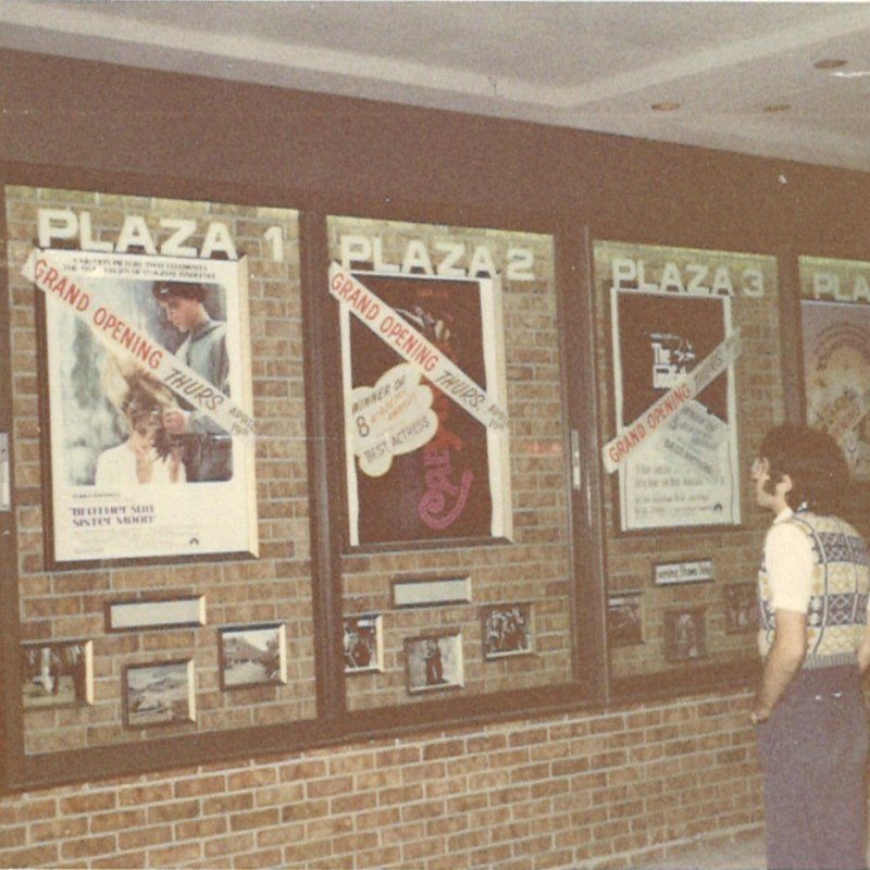 Cooper Plaza Theatres, Lincoln, NE. Featured films display