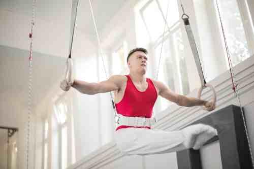 Gymnast Practicing - Rings