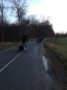 Cycling along