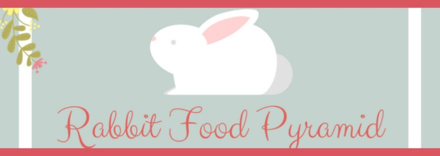Graphics of an infographics - Rabbit Food Pyramid