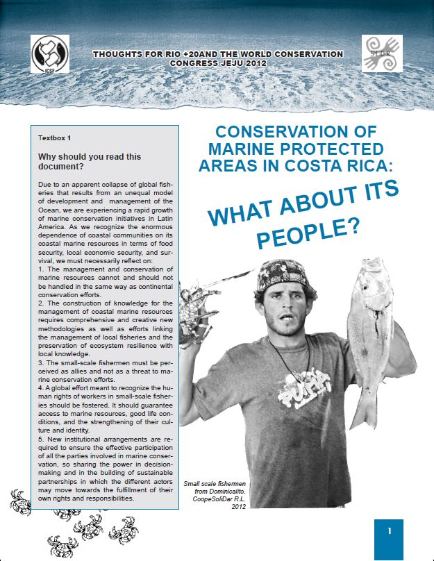 CONSERVATION OF MARINE PROTECTED AREAS IN COSTA RICA
