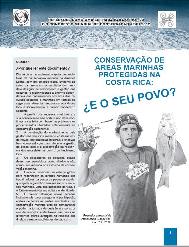 CONSERVAÇÃO DE ÁREAS MARINHAS PROTEGIDAS NA COSTA RICA