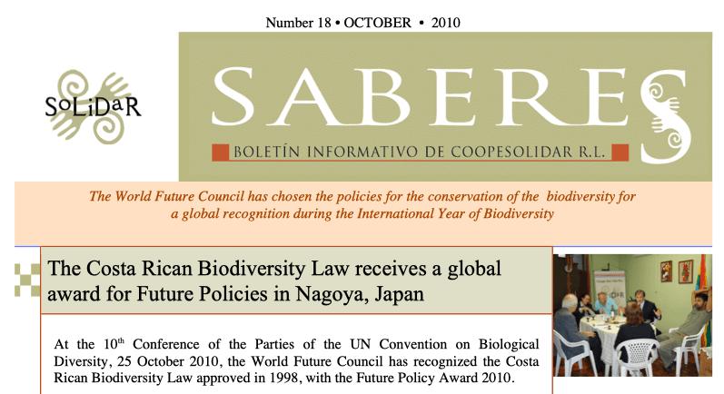 Boletín SABERES No 18 Año 2010