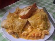 Lobster burrito at Waruguma