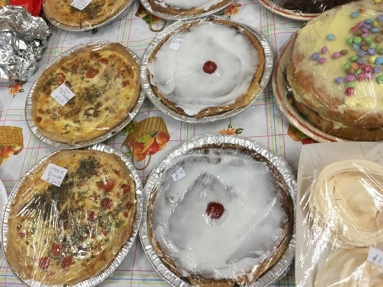 Cakes and quiches