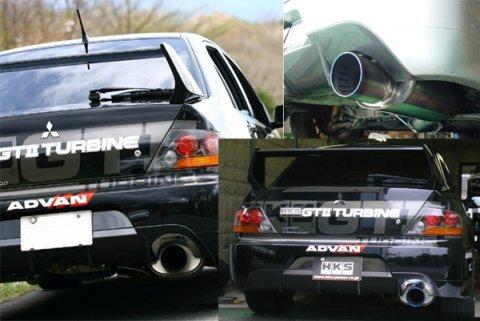 hks super turbo exhaust muffler for