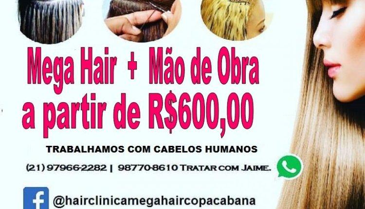 HAIR CLINICA | MEGA HAIR | VENDA DE CABELOS | ESTÉTICA