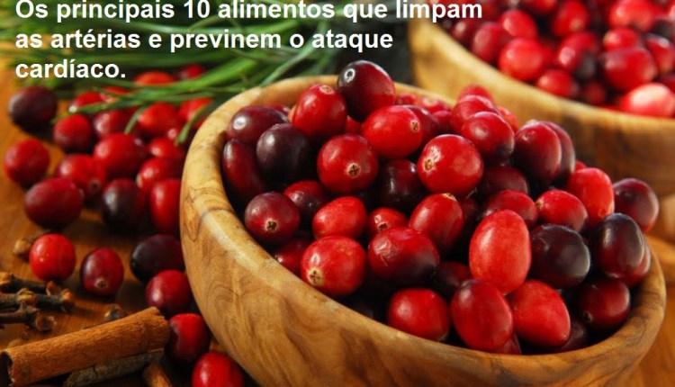 Os principais 10 alimentos que limpam as artérias e previnem o ataque cardíaco.