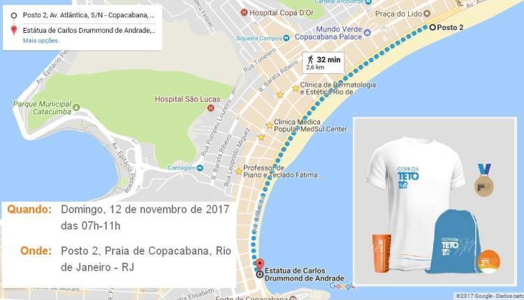 Inscrições abertas para a corrida fun do TETO em Copacabana