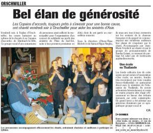 L'Alsace du 23 janvier 2005
