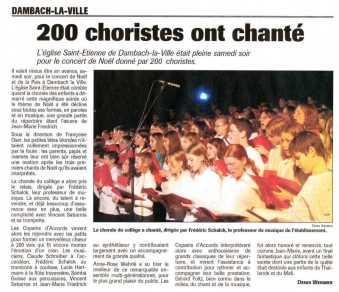 L'Alsace du 6 décembre 2005