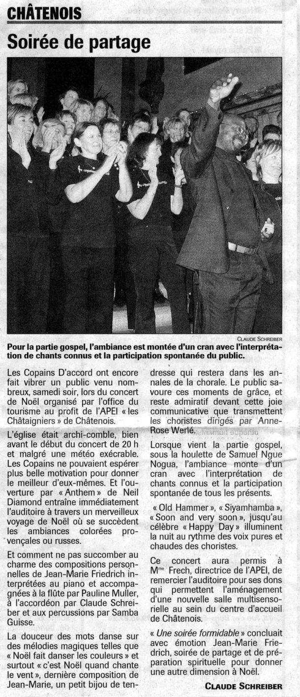 L'Alsace du 19 décembre 2005