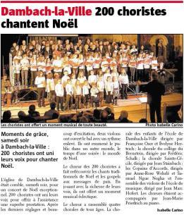 L'Alsace du 22 décembre 2008