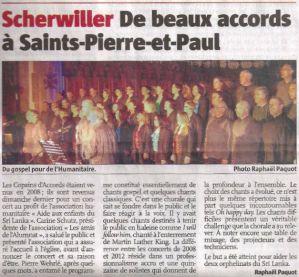 L'Alsace du 22 novembre 2012
