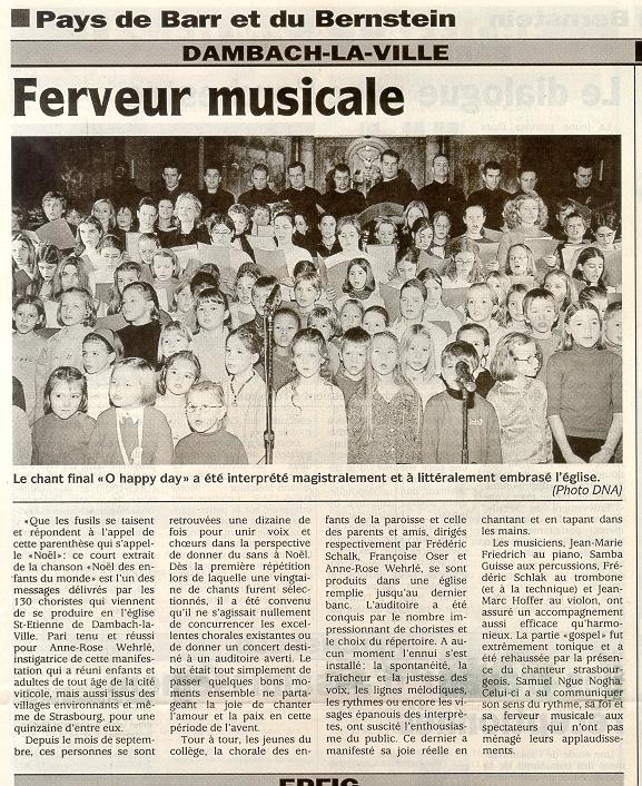 DNA, décembre 2001