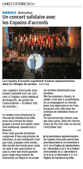DNA du 21 octobre 2013