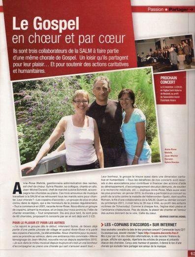 Journal SALM, octobre 2011