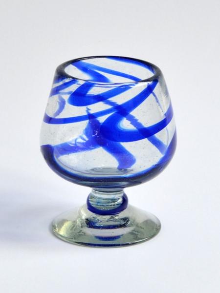 Cognac Glass 7 oz - Blue swirls Image