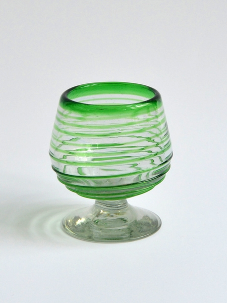 Cognac glass 7 oz- Green spirals Image