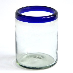 DOF Glass - Cobalt Blue Rim