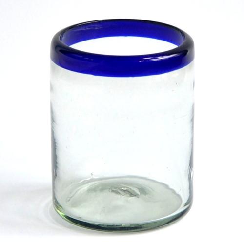 DOF Glass 12 oz - Cobalt Blue Rim Image