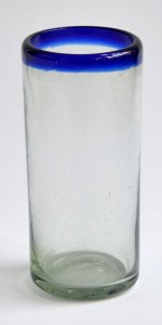 Jumbo high-ball glass cobalt