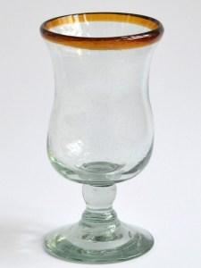 Polka glass amber rim