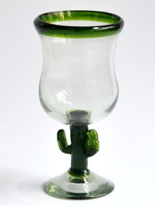 Polka glass cactus on stem