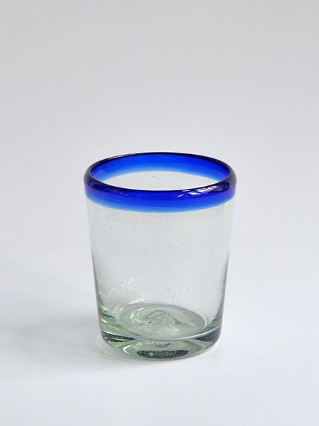 Tapered DOF Glass 12 oz - Cobalt blue rim Image