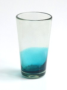 Tapered tumbler half blue