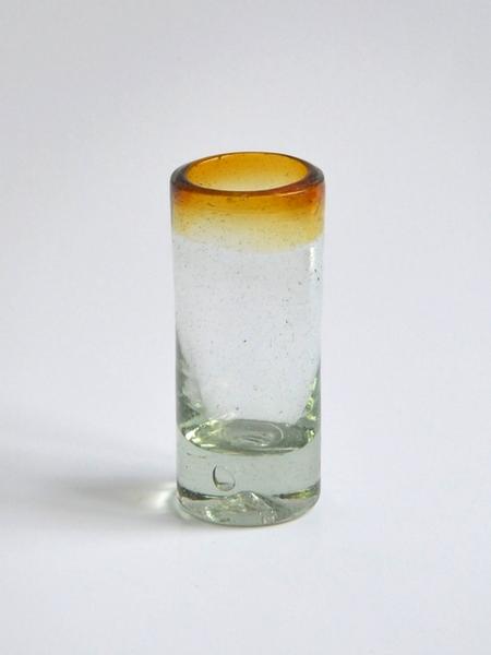 Tequila shot glass 2 oz - Amber rim Image