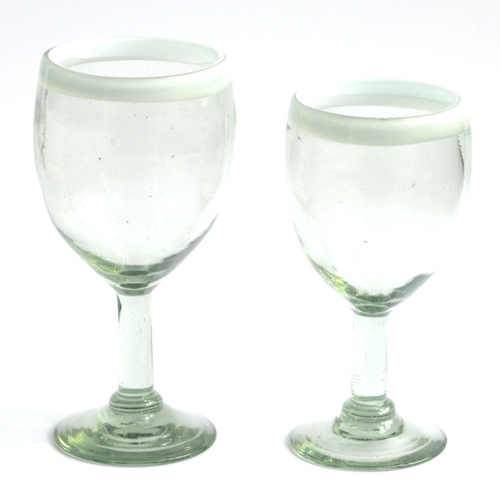 Wine glasses - White rim Image