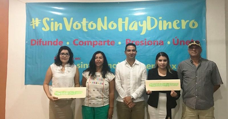 """Ciudadanos promueven acciones locales para difundir """"SinVotoNoHayDinero"""""""
